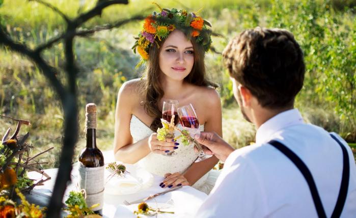 свадьба у озера