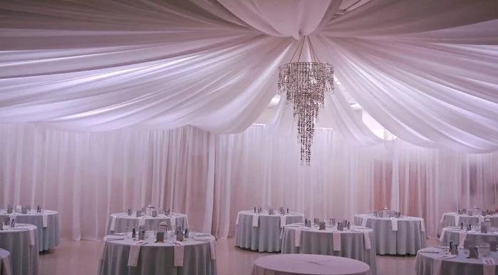 Декорирование зала тканью