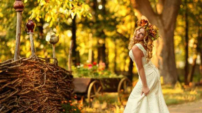 декор для осенней свадьбы