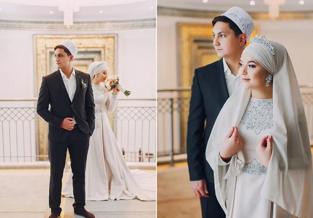 наряды жениха и невесты у татар