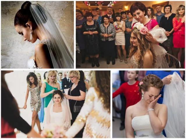снятие фаты с невесты
