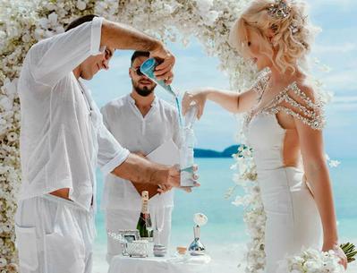 свадебная церемония с песком