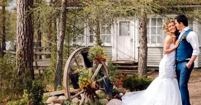 свадьба в финской деревне