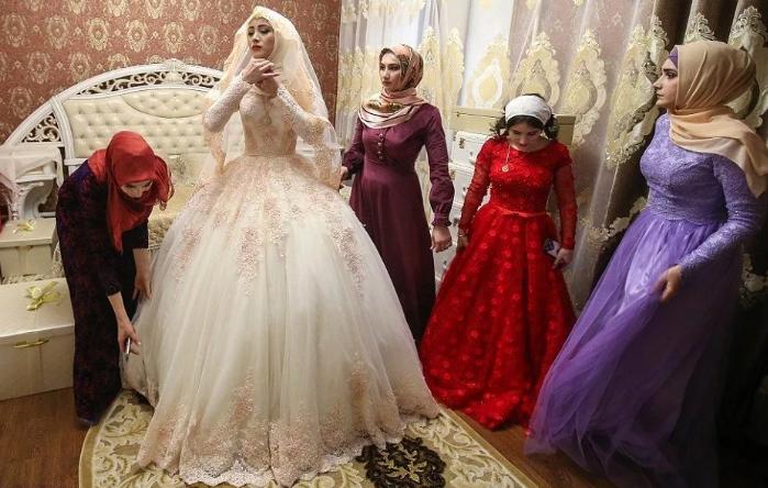 одевание невесты