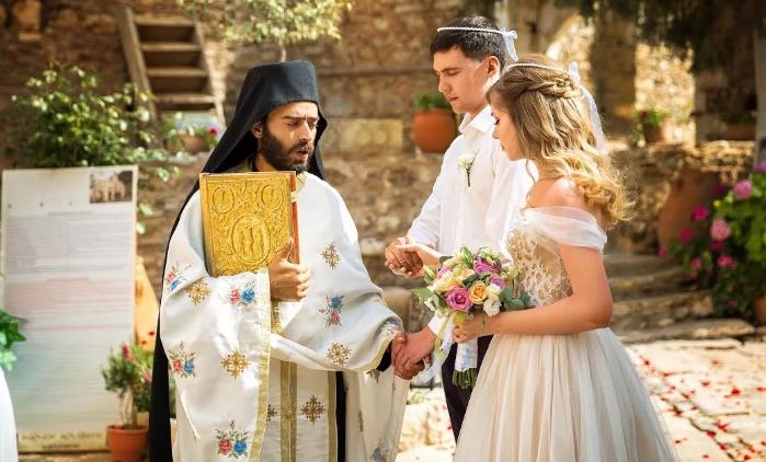 православное венчание в Греции