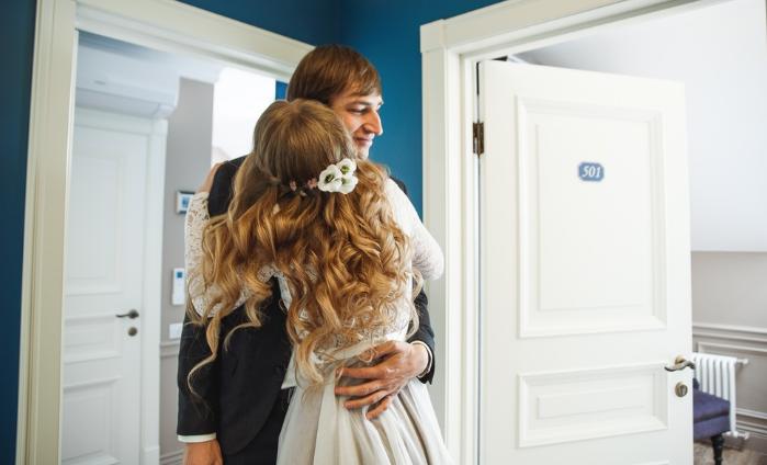 объятия будущей невесты