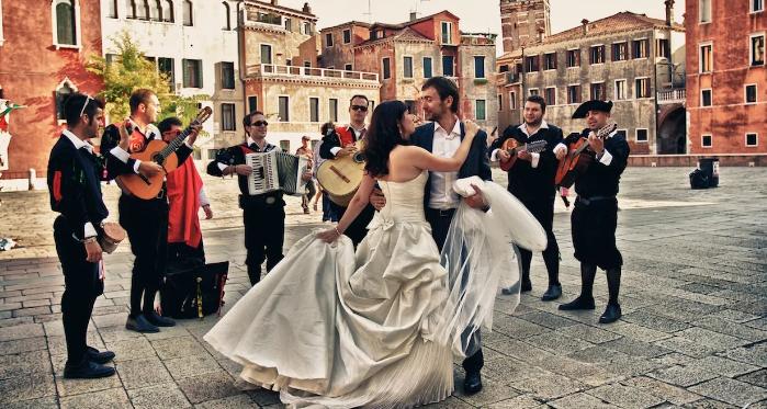 свадебный танец в Италии