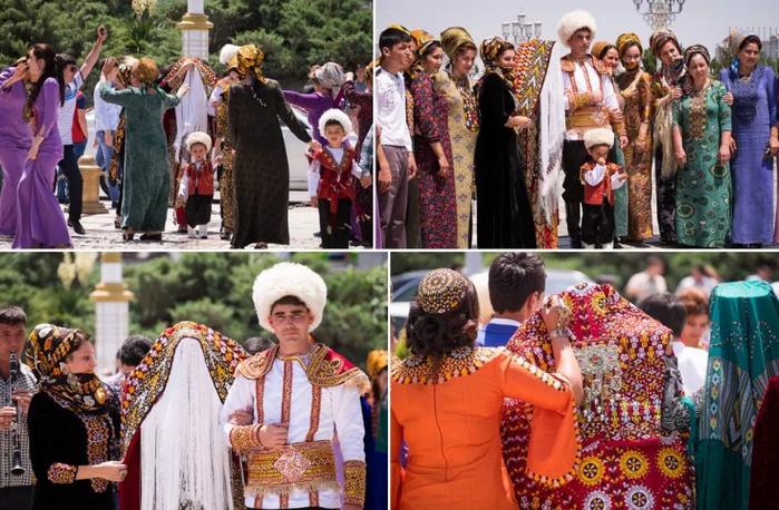 свадьба в Туркмении