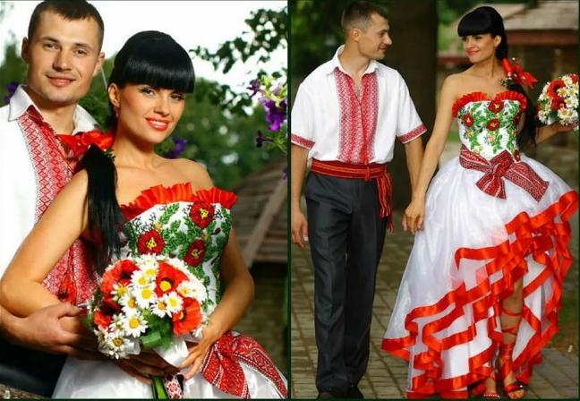 свадебная одежда жениха и невесты