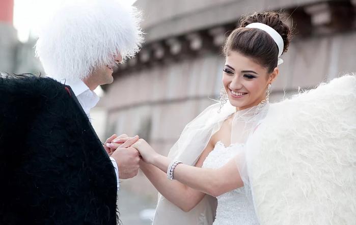 жених и невеста на Кавказе