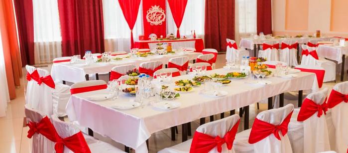свадебный зал в красном