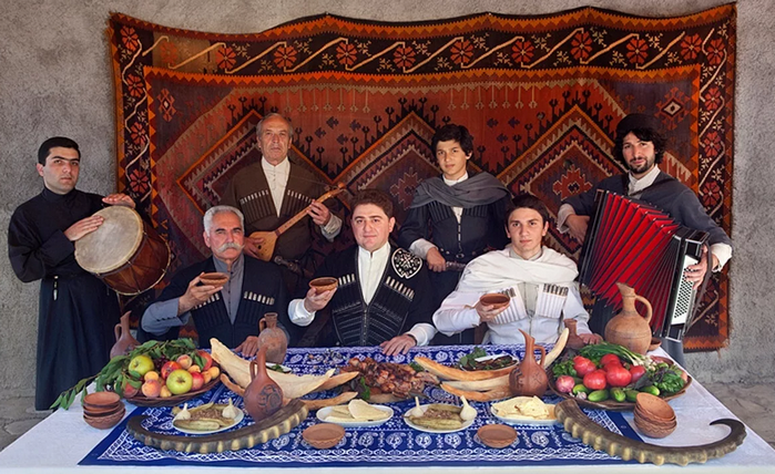 застолье на Кавказе