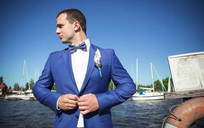 свадьба в морском стиле - одежда