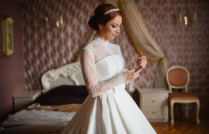 подвенечное платье для венчания в церкви