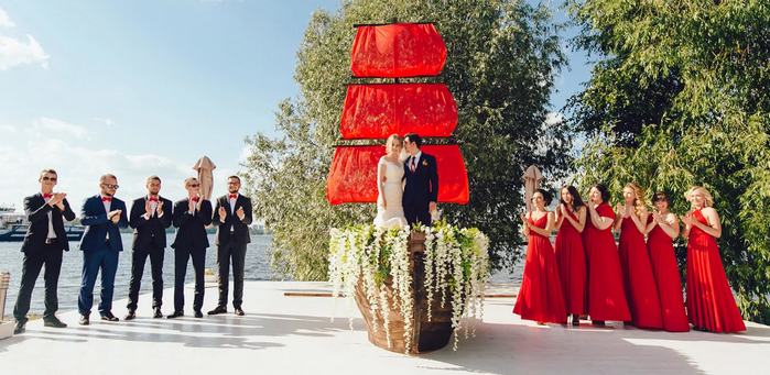 свадьба Алые паруса