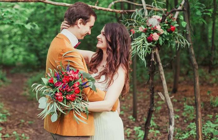 бохо стиль свадьба - платья