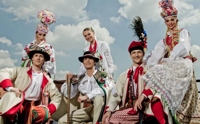 польские народные свадебные наряды
