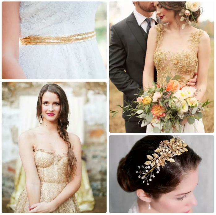 золотой стиль невесты