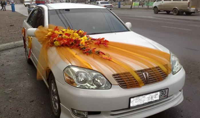 осенние украшение авто
