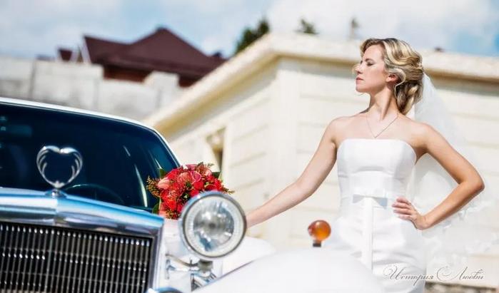 невеста у авто