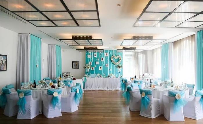 свадебный зал в стиле тиффани