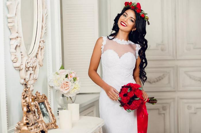 невеста в красном стиле