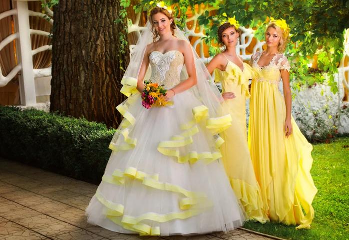 невеста в жёлтых оттенках