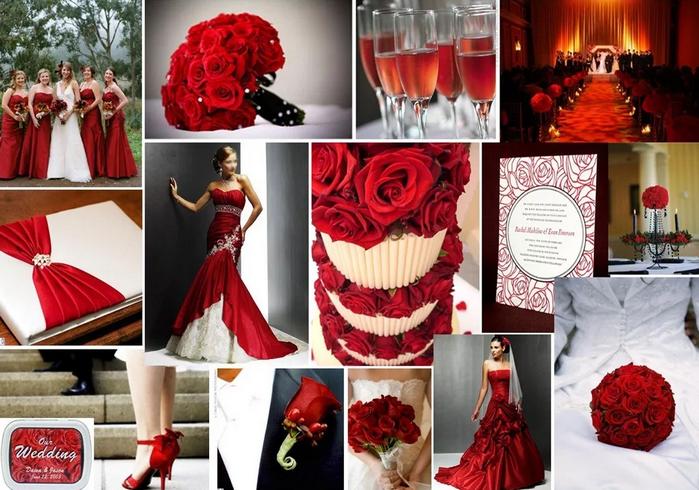 свадьба в бело-красном цвете