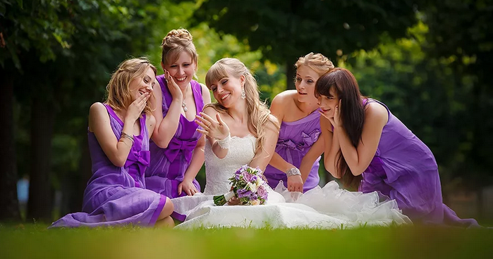 невеста с гостями