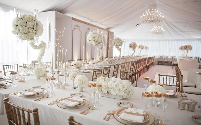 свадебный стол в белом