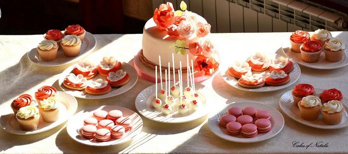 свадебный сладкий стол
