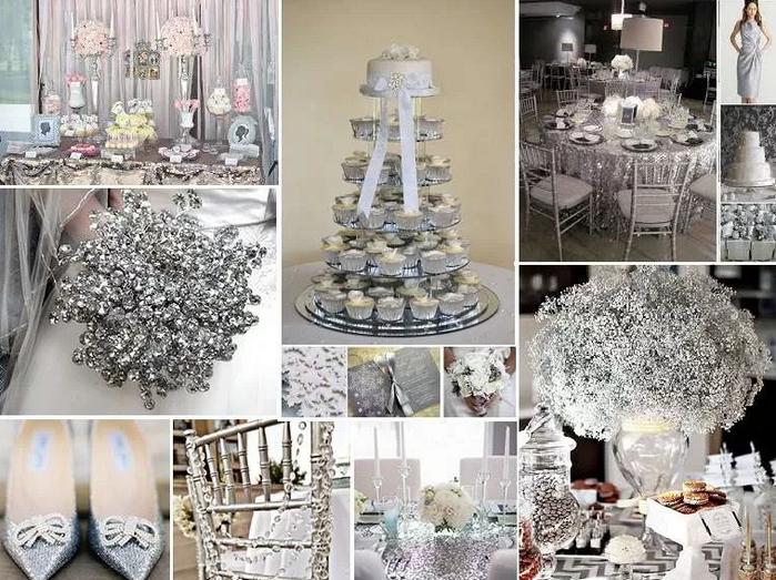 Свадьба в серебряном стиле