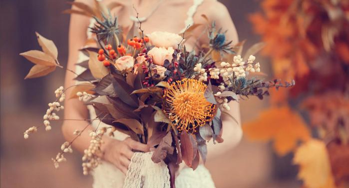 осенний букет цветов