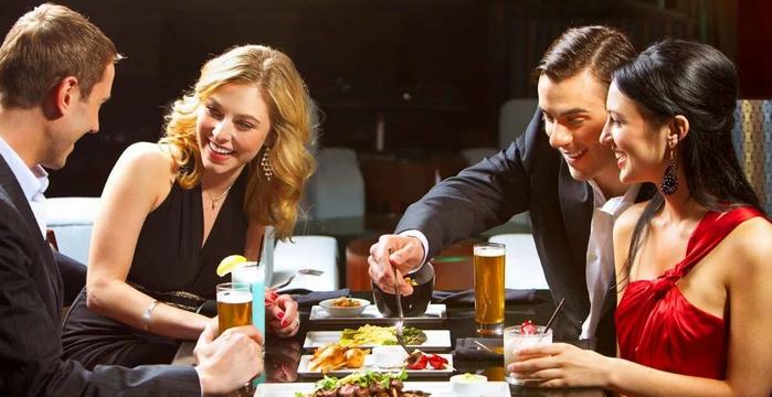 празднование в ресторане