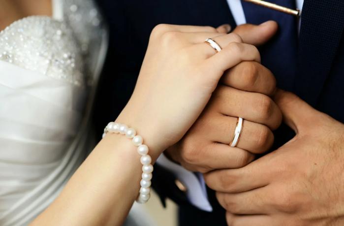 на какой руке носят обручальные кольца женщины