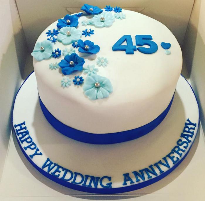 торт на 45 лет свадьбы