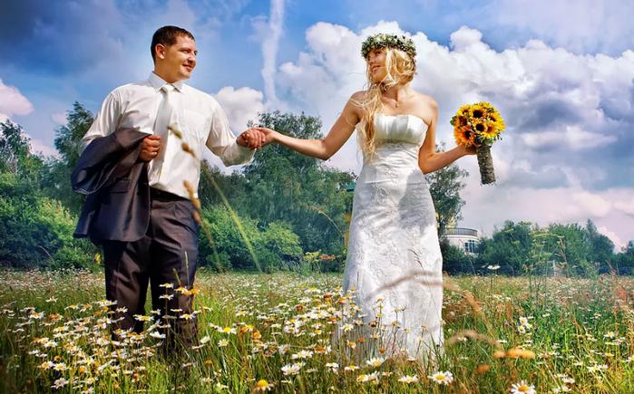 свадебные фотосессии на улице