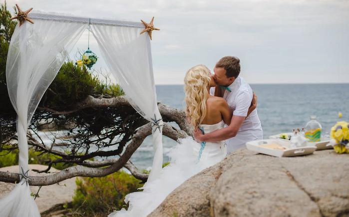 свадьба на море за границей