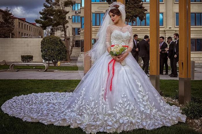 невеста на кавказской свадьбе