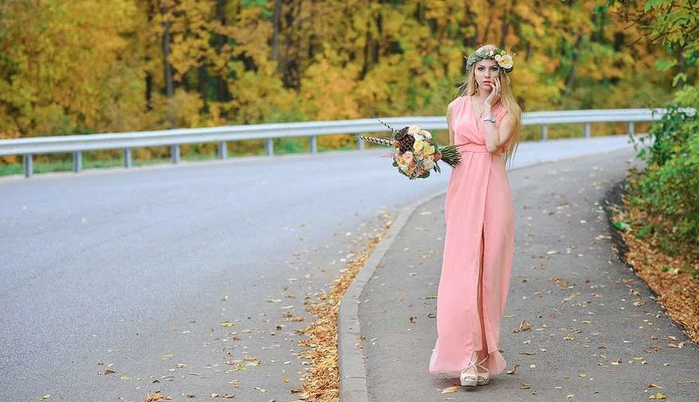 осеннее платье на свадьбу