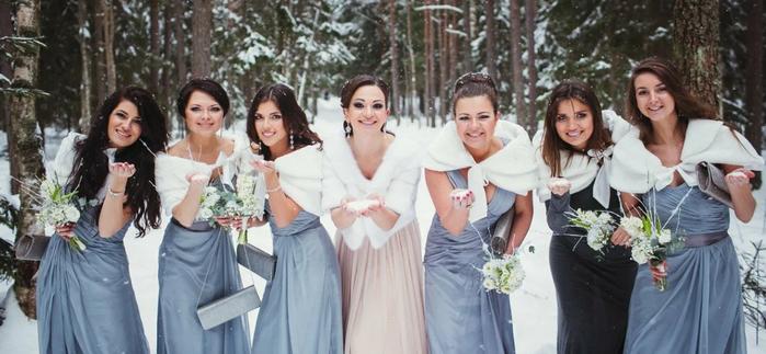 в чем пойти на свадьбу зимой девушке