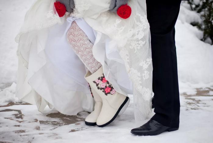 зимняя обувь на свадьбу